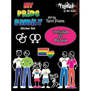 My Pride Family Auto Decals Sticker set includes 21 decals