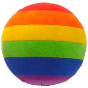 Gay Pride Antenna Ball may be put on your antenna or you may hang it from you rear view mirror. This Rainbow Antenna ball comes with string attached which can be easily removed. This ball is 2 inches and is made of dense styrofoam.