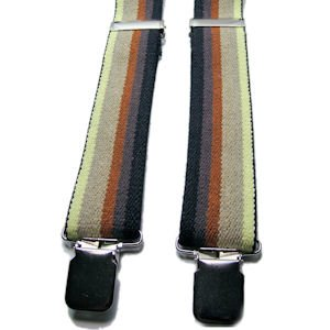 "These Gay Pride Bear Suspenders come in two sizes for Bears up to 6'3""."