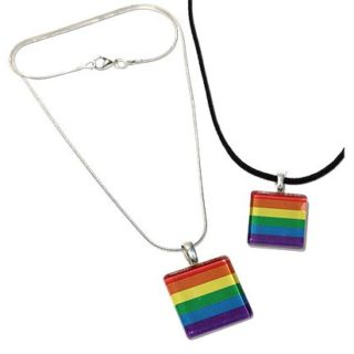 rainbow glass pendant with black suede rope or silver snake chain necklace