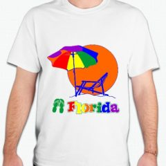 Florida Gay Pride Shirts celebrate the Florida Beaches and sun with this brightly colored T-Shirt or Tank.