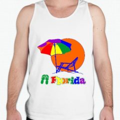 Florida Tank celebrates the Florida Beaches and sun with this brightly colored gay pride tank top.