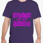 Straight but Not Narrow shirts are a whimsical way for any wanting to make a supporting statement. The unique design is printed on a 100% preshrunk cotton t-shirt or tank. Available in a light blue or purple t-shirt or your choice of gray or navy men's tank.