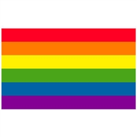 Gay Pride Flag Sticker 3 X 5 Vinyl Coated Rainbow Sticker