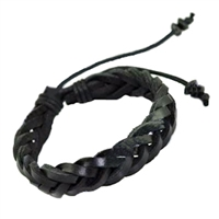 Genuine Leather Braid Bracelet is 7 1/2 Inches Long X 1/2 Inches Wide.