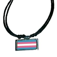 Transgender Flag Necklace