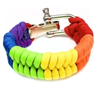 Gay Pride Rainbow Paracord Bracelet. A Bright, Bold Statement.