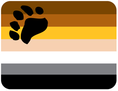 "Gay Pride Bear Mouse Pad is 9"" X 8"" with extra thick foam backing to support your hand while using your computer. The shades of brown and gray and the paw print logo of this Gay Pride Bear Mouse Pad brings a statement of pride to your work space and who you are."