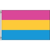 Pansexual Flag. Don't let people define your feelings. Display this colorful flag as a true statement of who you are.